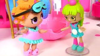 Куклы Лол Мультик! Пупсы Лол и Красавицы Шопкинс Лучшие Подружки! Лол Подарок на День Рождения!