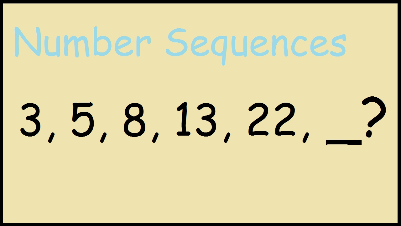 3 5 8 13 22 number sequences youtube