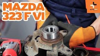 Wiellagerset veranderen MAZDA 323: werkplaatshandboek
