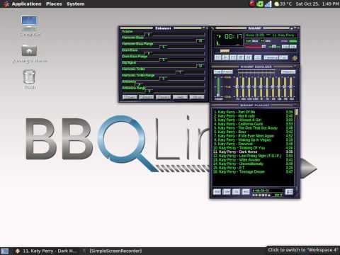 Winamp with Enhancer on BBQLinux