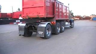 how a transfer dump truck works