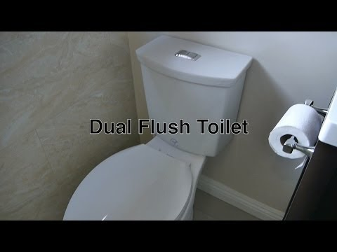 Dual Flush Toilet By American Standard W/ Low & High Power Flushing + Valve / Handle Repair Parts
