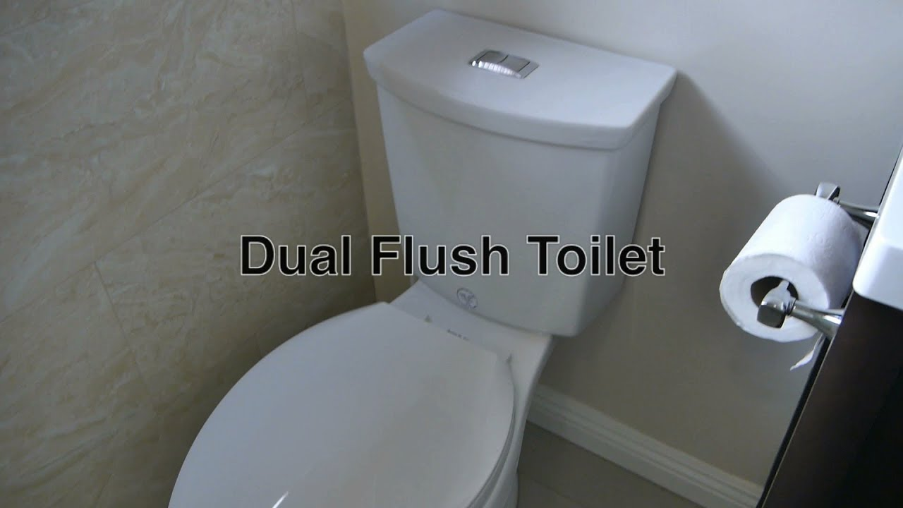 Dual Flush Toilet By American Standard W/ Low U0026 High Power Flushing + Valve  / Handle Repair Parts   YouTube