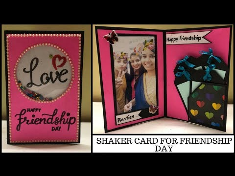 DIY friendship day card | shaker card tutorial | birthday card for friends |handmade card for friend