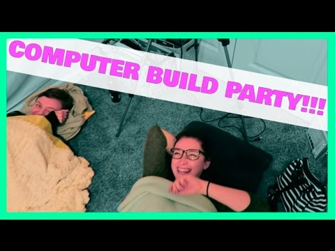 COMPUTER BUILDING PARTY // A DAY IN MY LIFE