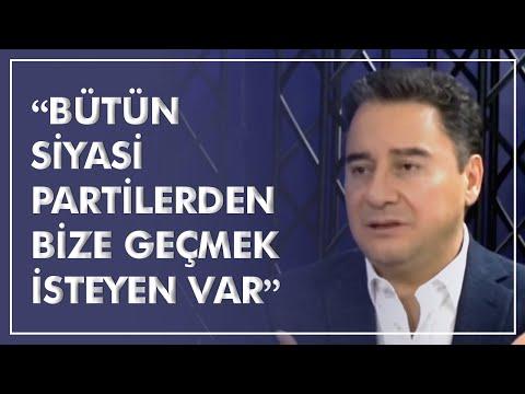 """DEVA Partisi Genel Başkanı Ali Babacan: """"Bütün siyasi partilerden bize geçmek isteyen var"""""""