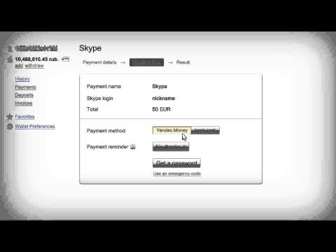 Yandex.Money How-to: Paying For Online Services — Skype