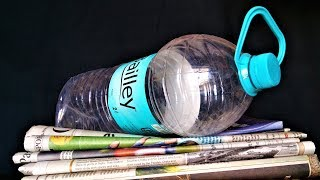 Newspaper & Plastic Bottle Craft | Best out of waste