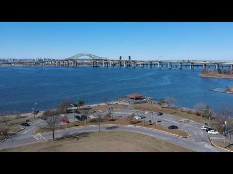 Bayonne, New Jersey - Stephen R. Gregg Hudson County Park Drone Flight (2018)