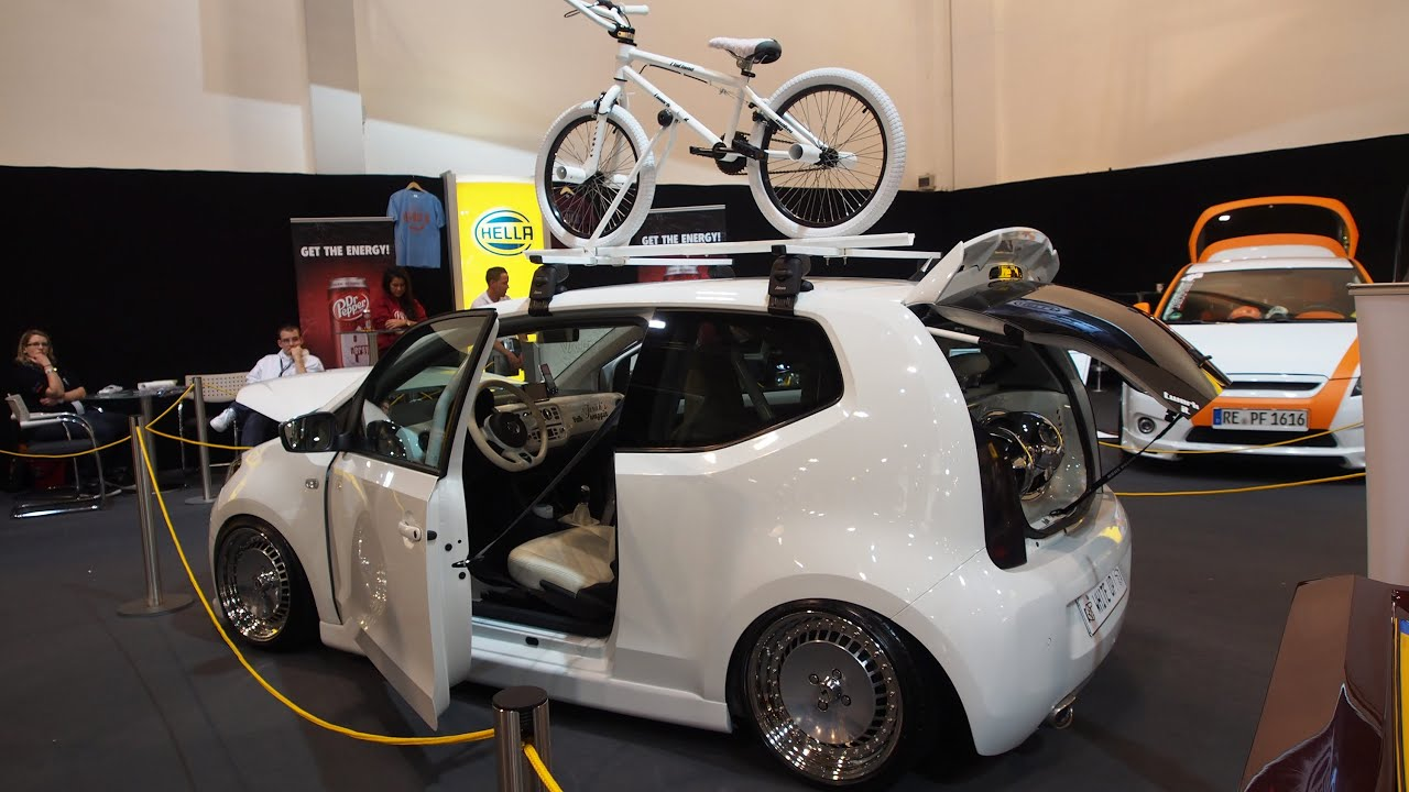 volkswagen up white tuning at essen motorshow exterior. Black Bedroom Furniture Sets. Home Design Ideas