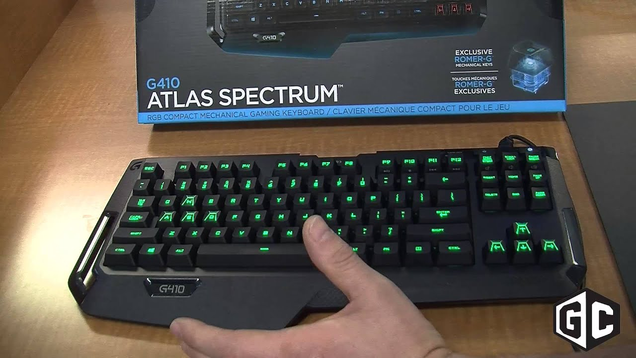 f78912e8f46 Close-up with the Logitech G410 gaming keyboard - YouTube