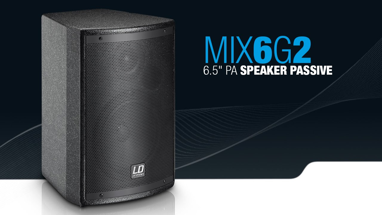 Ld Systems Stinger Mix 6 G2 65 Pa Speaker Passive Youtube Loudspeaker Protection With Soft Start