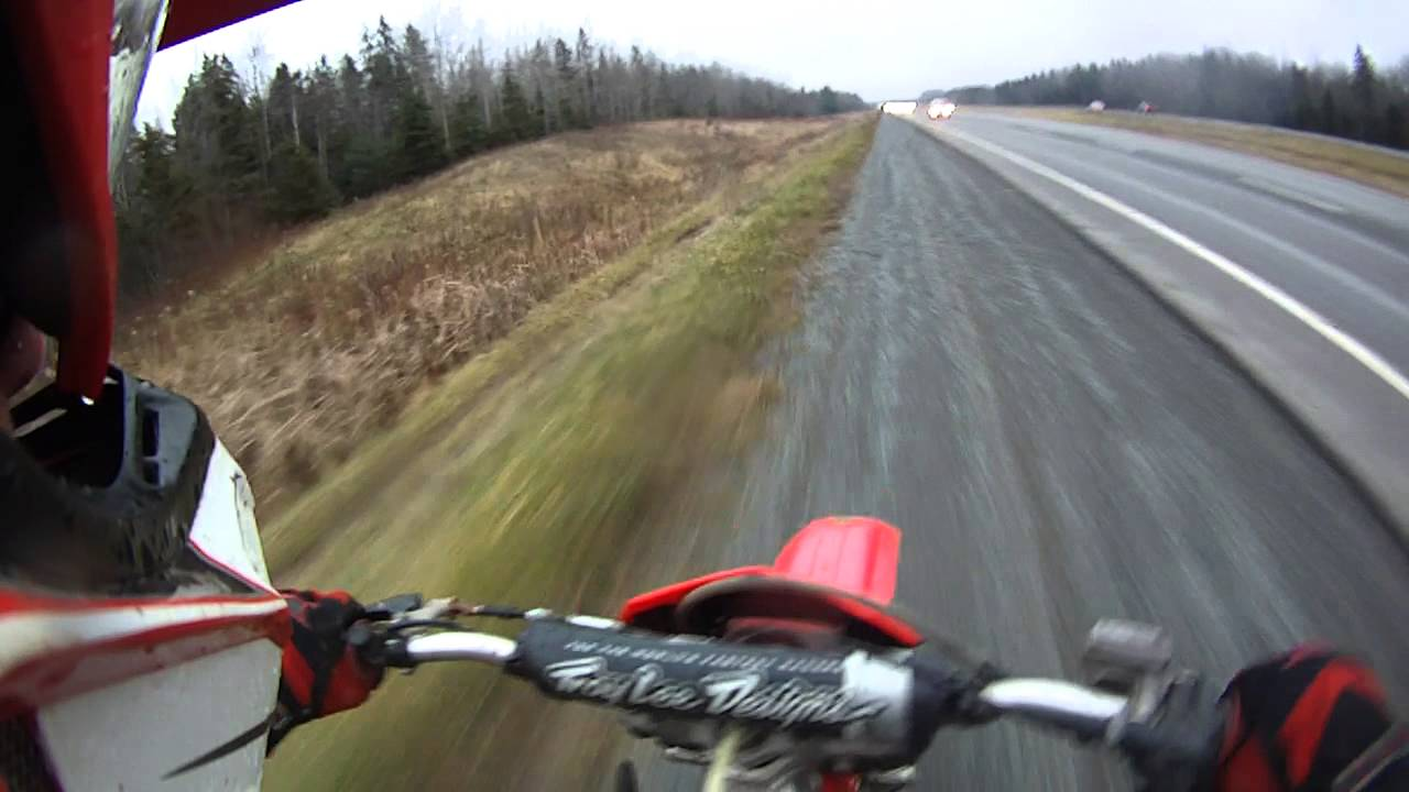 1999 cr 125 top speed and highway ride - YouTube