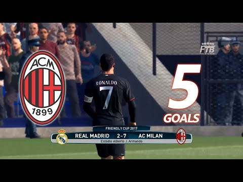 What happends if Cristiano Ronaldo joining Milan? | Real Madrid v AC Milan | PES 2017