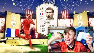 ZIDANE IN THE LUCKIEST FIFA 20 PACK OPENING EVER!!!