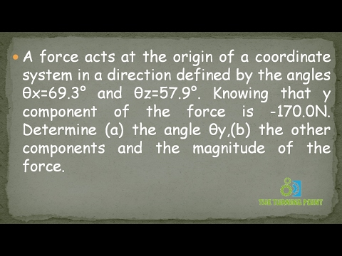Spatial Force System Problem 2