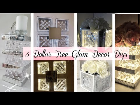 3 NEW Unique Dollar Tree Room Decor Projects | Wall Decor | Flower Box | Candle Holder | Easy diys