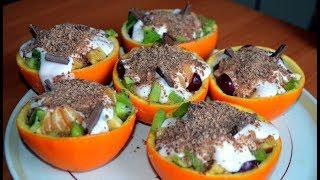 НОВОГОДНИЙ фруктовый салат. УКРАСИТ ваш СТОЛ.Диетический рецепт.