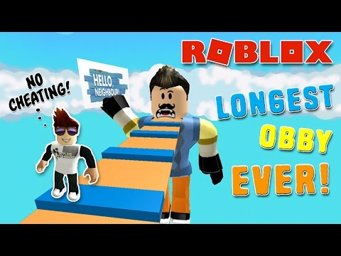 HELLO NEIGHBOR OBBY | ROBLOX - No Cheating This Time!!!