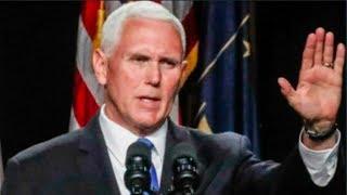 Mike Pence's PATHETIC commencement speech cause graduation walkout