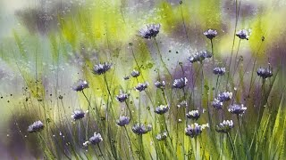 How To Paint An Atmospheric Field Of Flowers In Watercolour