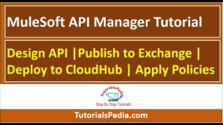 MuleSoft API Manager Tutorial: Design API |Publish To Exchange | Deploy To CloudHub | Apply Policies