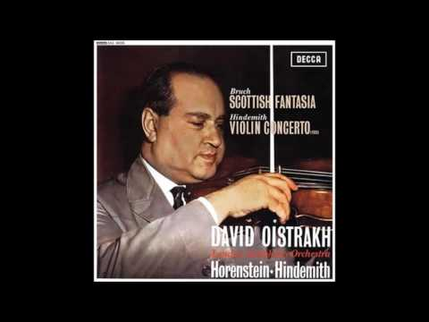 David Oistrakh playing Bruch scottish fantasia
