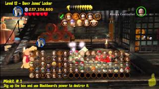 Lego Pirates of the Caribbean: Level 12 Davy Jones Locker - FREE PLAY(Minikits and Compass) - HTG