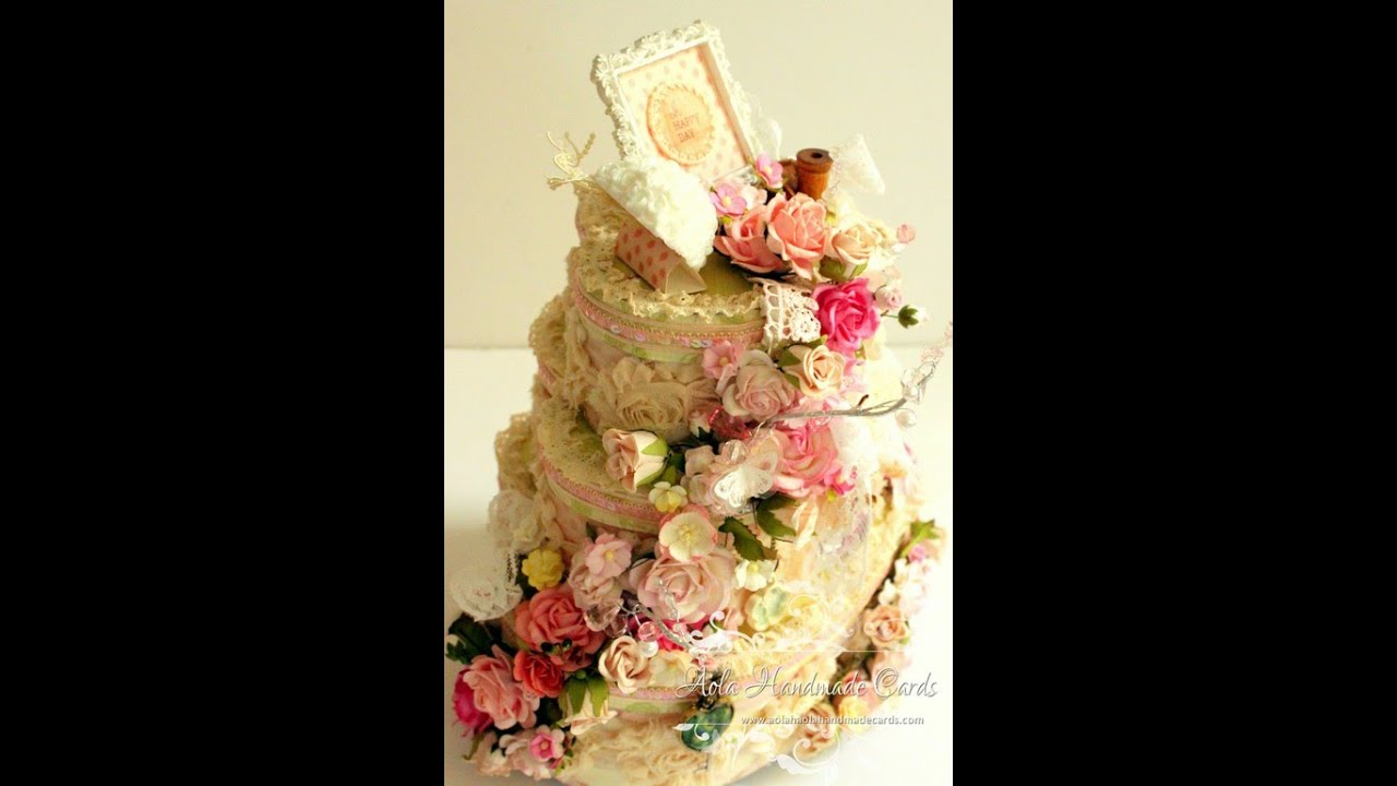 Tutorial - Wedding shabby chic Altered Cake box using spare boxes ...