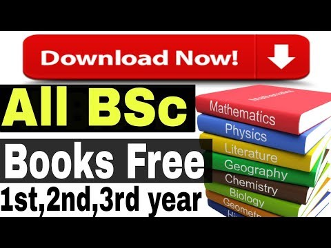 How to Download All Bsc Books For Free in pdf [1st, 2nd, 3rd Year