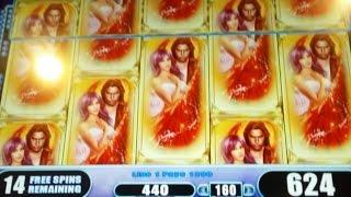 BIG WIN! Fallen Angels Slot Machine-3 Bonuses at $1.60 Bet