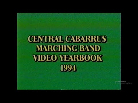 "1994 Central Cabarrus High School Marching Band CCHS Yearbook Video ""Red Hot Romance"" Show"