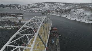 Statens vegvesen - Montering av Bøkfjordbrua