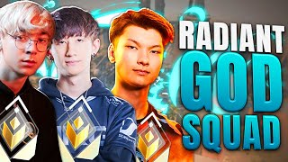 THE RADIANT GOD SQЏAD !!! | W/ Aceu & Sinatraa