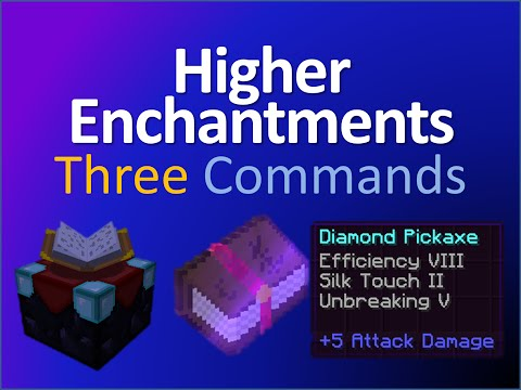 Higher Enchantments in three commands!