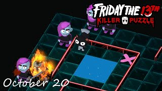 Friday the 13th Killer Puzzle Daily Death October 20 2020 Walkthrough