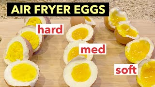 HOW TO COOK SOFT, MEĎIUM AND HARD BOILED EGGS IN THE AIR FRYER | NINJA AF101
