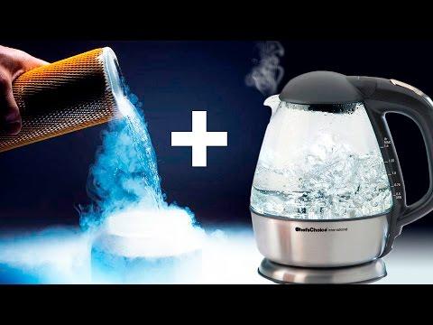 Жидкий азот + Кипяток = Взрыв из тумана!