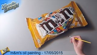 m&m's oil painting  - 02/05/2015 LIVE Art - 1st day
