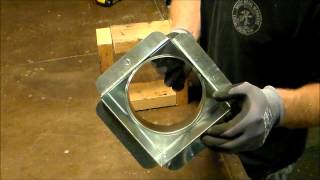 How to install a Sheet Metal Register Can or Box for Heating, Air Conditioning, HVAC install