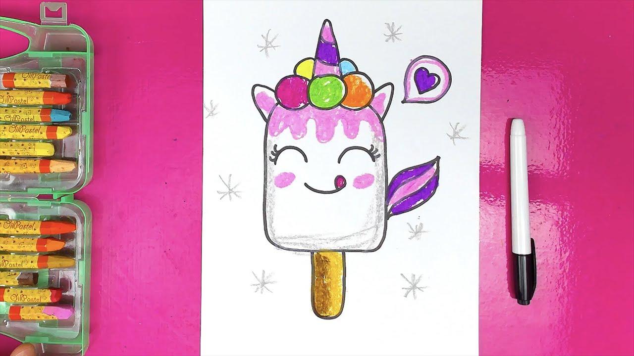 Единорог - Мороженое - учимся рисовать с РыбаКит