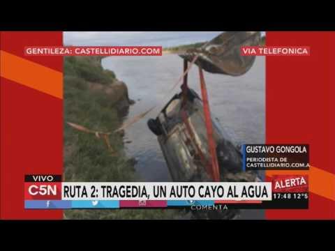Tragedia en Ruta 2: un muerto después de caer con el auto al agua