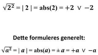 Kvadratroden af et tal i anden