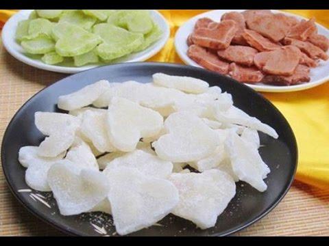 Cách Làm Món Mứt Dừa Non Vị Sữa Ca Cao Trà Xanh Thơm Ngon