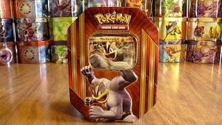 Pokemon Machamp EX Tin Opening