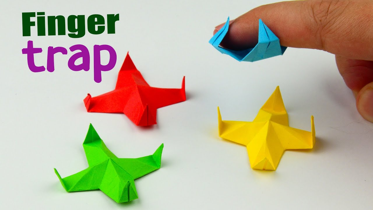How to make a paper antistress toy. [DIY Origami finger trap]   Full Video