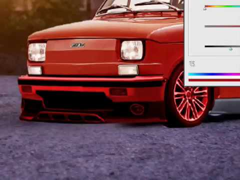 photoshop tuning fiat 126 virtual tuning youtube. Black Bedroom Furniture Sets. Home Design Ideas