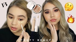 NEW FENTY BEAUTY CONCEALER & POWDER WEAR TEST & REVIEW | Makeupbytreenz