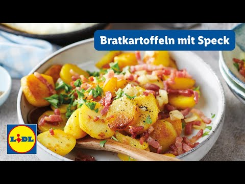 Video: Einfaches Bratkartoffel Rezept | 55 min | 7 Zutaten | Lidl Kochen