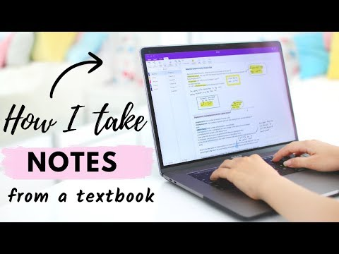 How I Take Notes On My Laptop From A Textbook | Digital Note Taking Tips!